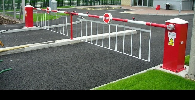 Car Park Boom Gate in Afon Wen