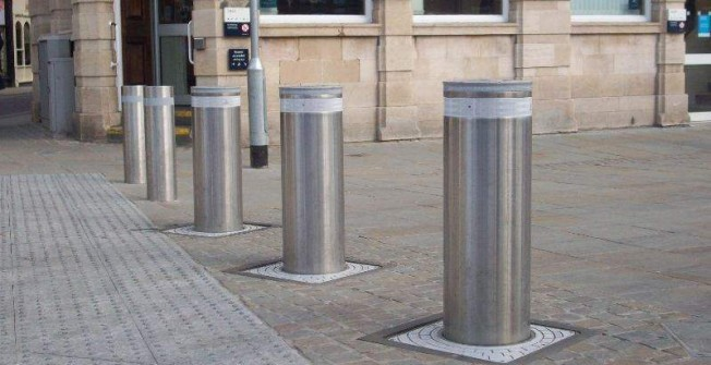 Automatic Rising Bollards in Alderminster